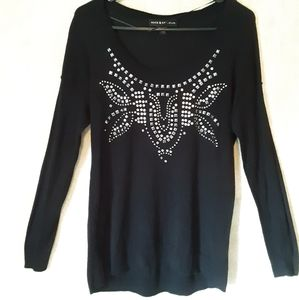 Rock and Republic Black and silver sweater small